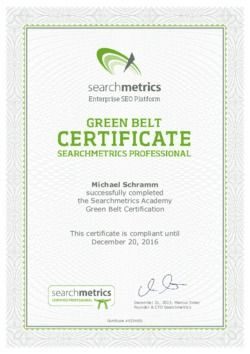 Searchmetrics Certified Professional - Michael Schramm